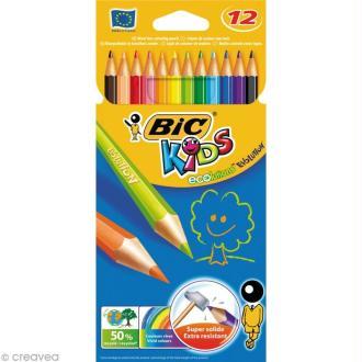 Crayons de couleur Bic Kids Evolution - 12 crayons écologiques