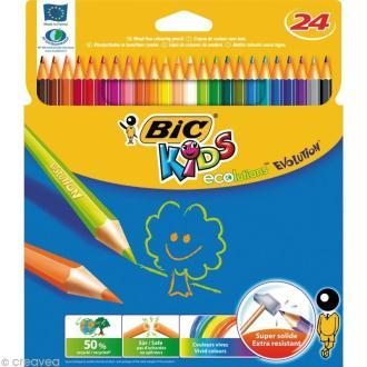 Crayons de couleur Bic Kids Evolution - 24 crayons écologiques
