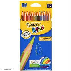 Crayons de couleur Bic Kids Tropicolor - 12 crayons