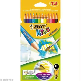 Crayons de couleur Bic Kids Aquacouleur - 12 crayons