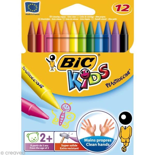 Craies de coloriage Bic Kids Plastidecor - 12 craies - Photo n°1