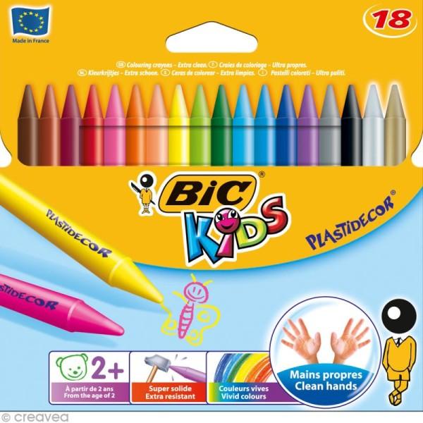Craies de coloriage Bic Kids Plastidecor - 18 craies - Photo n°1