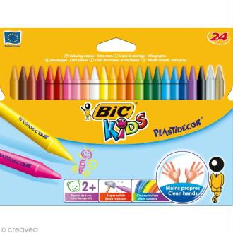 Craies de coloriage Bic Kids Plastidecor - 24 craies