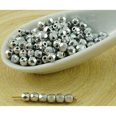 6 MM 30 rodé perles en gris