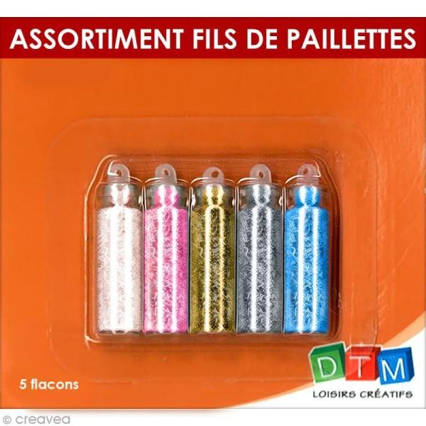 Flacons Fil de paillettes x 5 pcs - Photo n°2