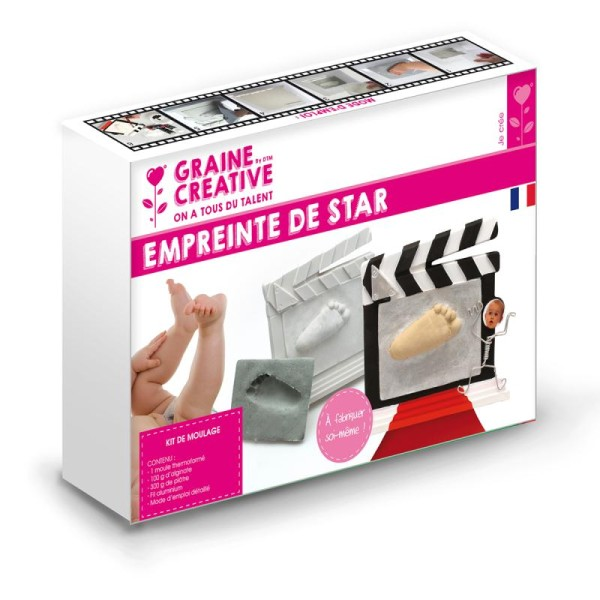 Kit empreinte de star bébé et porte photo - Photo n°1
