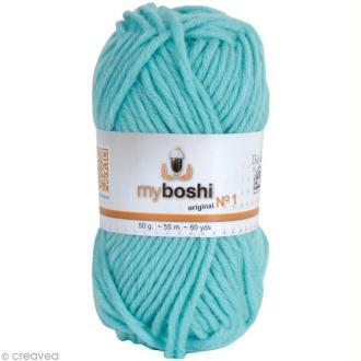 Laine MyBoshi n°1 - 158 Bleu Pacifique - 50 gr x 55 m