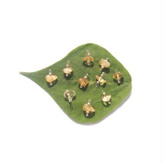 Citrine naturelle multicolore : 10 MINI breloques chips 14 MM de hauteur