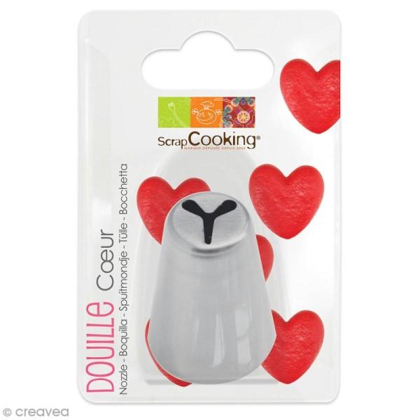 Douille à pâtisserie Coeur en inox - 2,4 x 3,7 cm - Photo n°1