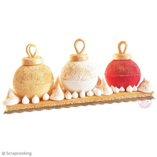 Kit bûche pâtissière - Boules de Noël - Photo n°2