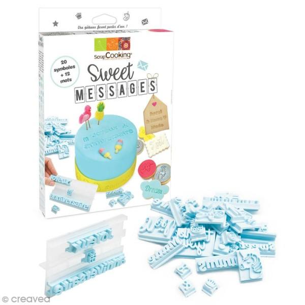 Kit cuisine créative - Sweet messages - 33 pcs - Photo n°1