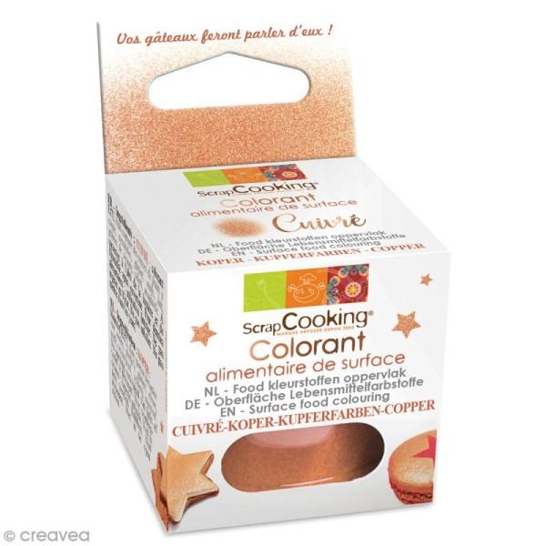 Colorant alimentaire de surface - Cuivré - 5 g - Photo n°1