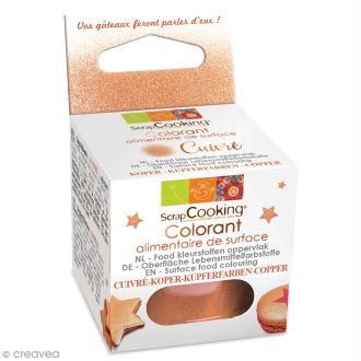 Colorant alimentaire de surface - Cuivré - 5 g