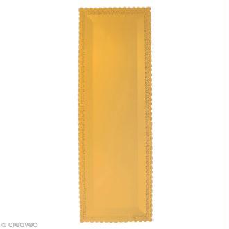 Plat rectangulaire bords dentelle - Doré - 13 x 40 cm