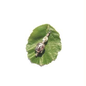 Pendentif Bouddha, Larimar, Opale Rose, Hématite 3,1 CM de hauteur x 9 MM