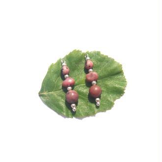 Rhodonite : Petits pendentifs 2,8 CM de hauteur x 6 MM de diamètre
