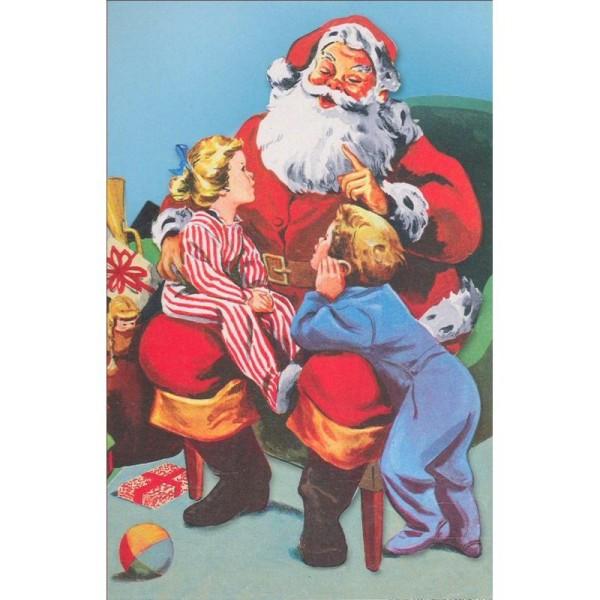 Image 3D Père Noël Enfants Format 12x18,5 cm pour creation d'un tableau tridimentionnel - Photo n°1