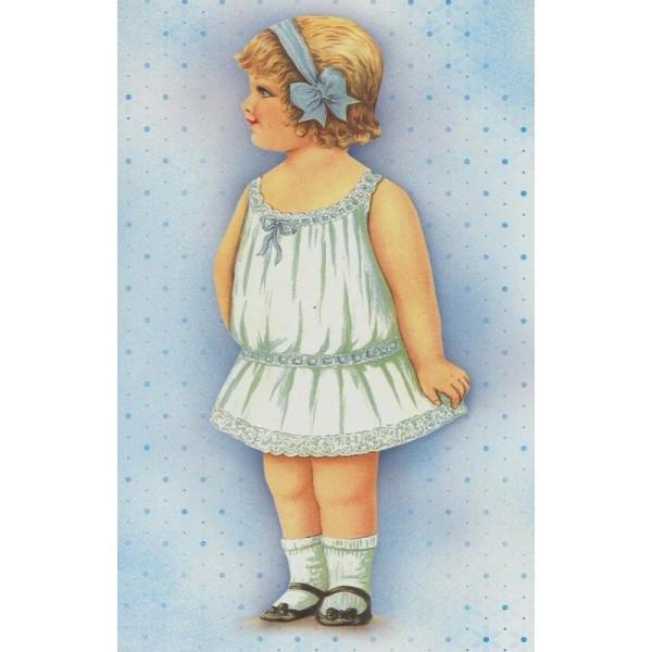 Image 3D Petite fille modèle Format 12x18,5 cm pour creation d'un tableau tridimentionnel - Photo n°1