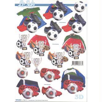 Feuille 3D à découper A4 Football