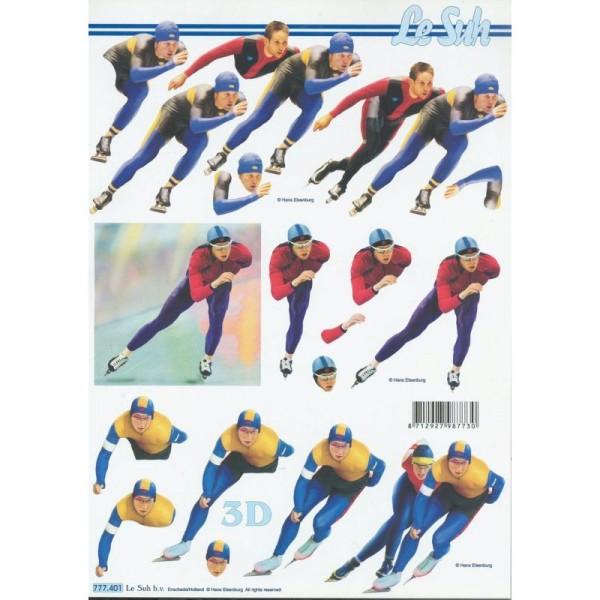 Feuille 3D à découper A4 Sport Patinage Patin à glace - Photo n°1