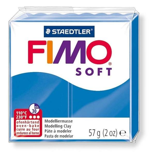 Pâte Fimo soft couleur Bleu Pacifique n°37, Pain polymère de 57g à cuire au four - Photo n°1