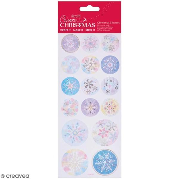 Stickers détails foil Create Christmas - Flocons de neige - 16 pcs - Photo n°1