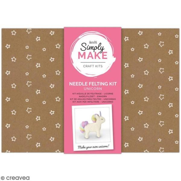 Kit créatif Feutrage - Simply Make - Licorne - Photo n°1