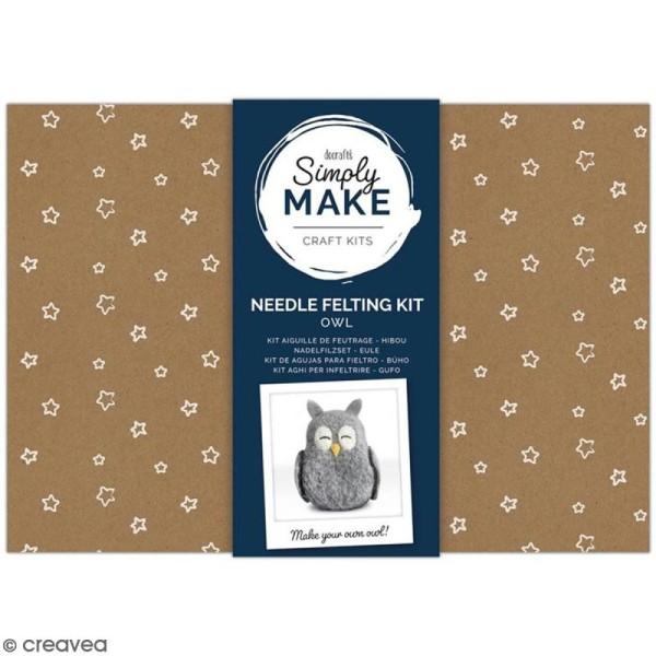 Kit créatif Feutrage - Simply Make - Chouette - Photo n°1