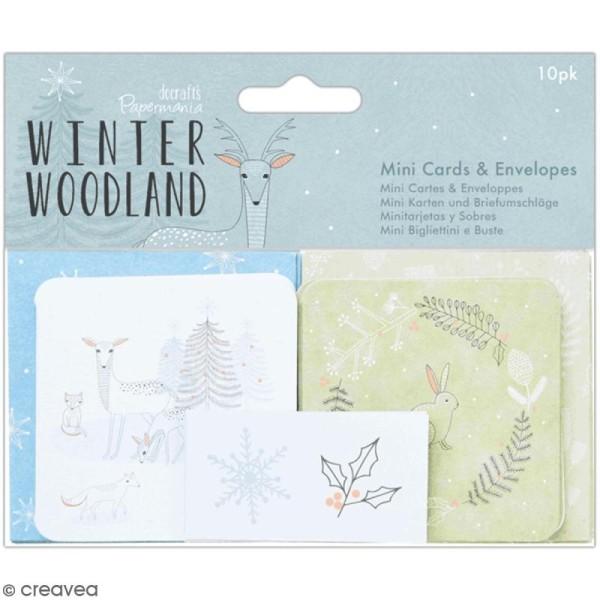 Set de carterie Docrafts - Winter Woodland - pcs - Photo n°1