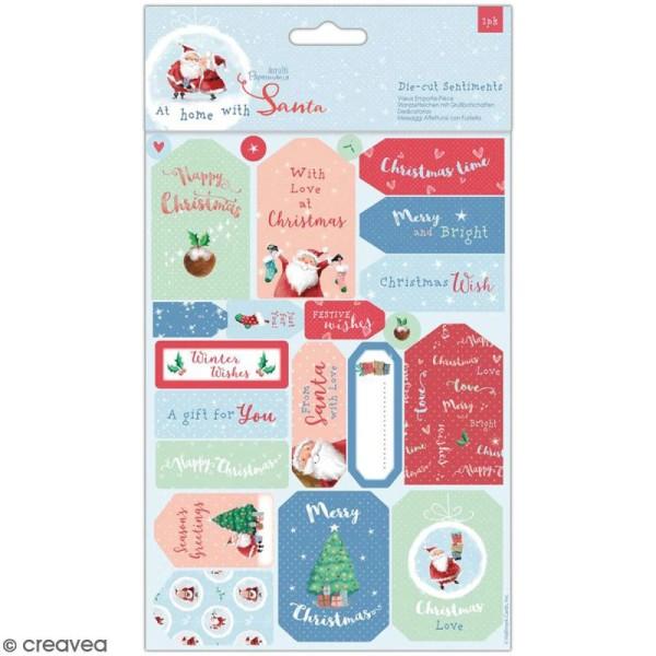 Set de découpages Docrafts - At Home with Santa - 22 pcs - Photo n°1