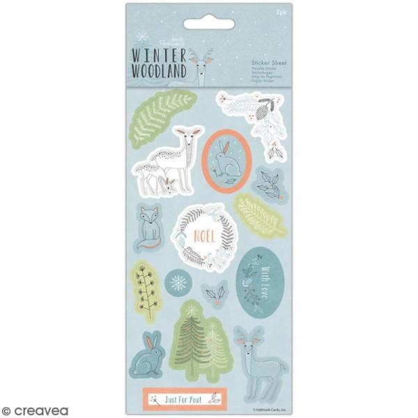 Stickers papier Docrafts - Winter Woodland - 30 pcs - Photo n°1
