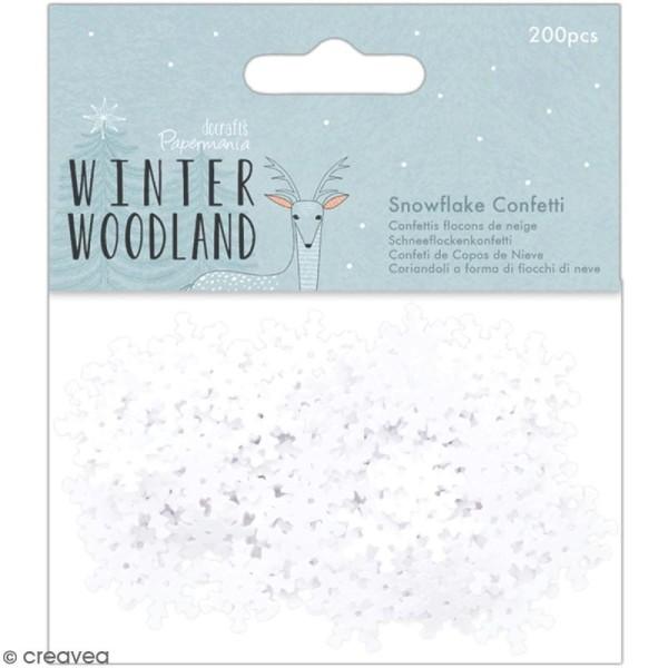 Confettis Winter Woodland - Flocons de neige - 200 pcs - Photo n°1