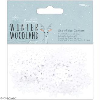 Confettis Winter Woodland - Flocons de neige - 200 pcs