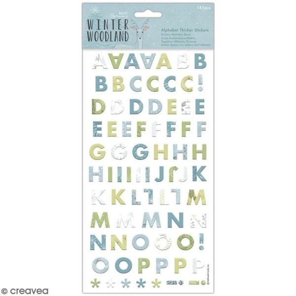 Stickers Alphabet cartonné Docrafts - Winter Woodland - 161 pcs - Photo n°1