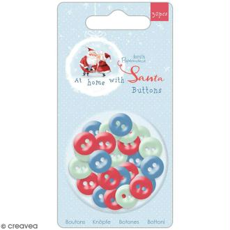Assortiment boutons Docrafts - At Home with Santa - 30 pcs