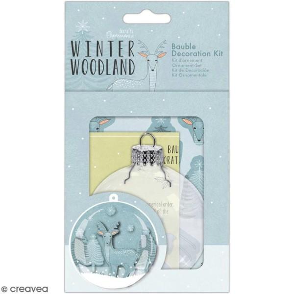 Kit boule de Noël décorative Docrafts - Winter Woodland - 9 cm - Photo n°1