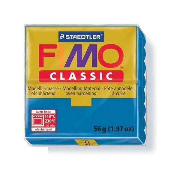 Pâte Fimo classique couleur Bleu n°37, Pain polymère de 57g à cuire au four - Photo n°1