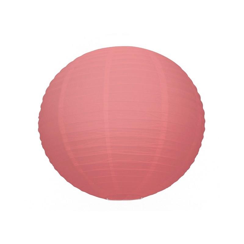 lanterne japonaise boule de 35 cm en papier rouge corail boule chinoise corail lanterne en. Black Bedroom Furniture Sets. Home Design Ideas