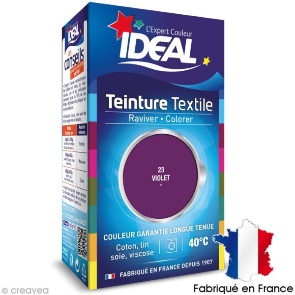 Teinture Tissu Idéal liquide violet 23 mini - Photo n°1