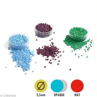 Perle de rocaille mate - 2,5 mm x 15 g