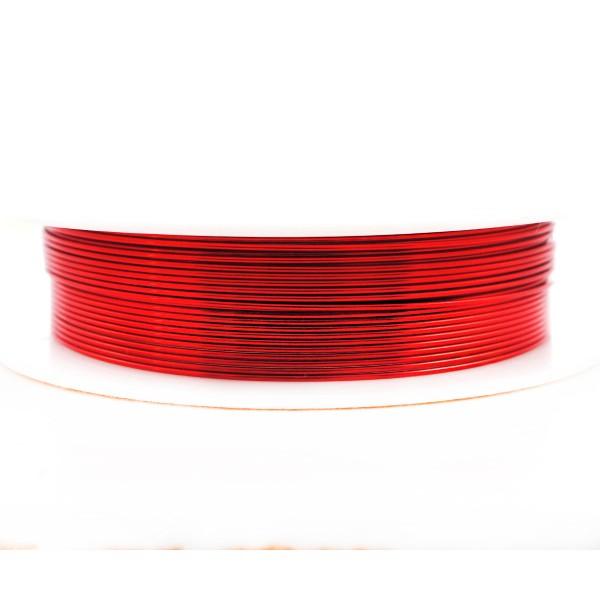 3,5 m 11.4 ft 3.8 yrd Rouge Enveloppé Artistique Aluminium Perles de l'Artisanat, de Bijoux en Fil d - Photo n°1