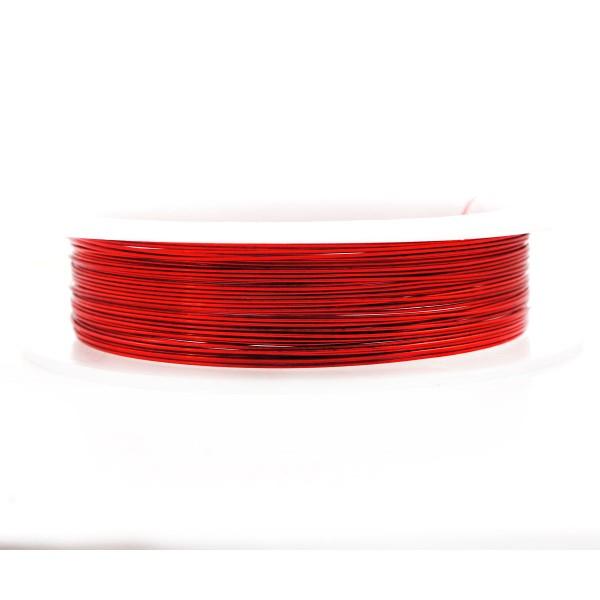9m 30 10yrd Rouge Enveloppé Artistique Aluminium Perles de l'Artisanat, de Bijoux en Fil d'Enrouler - Photo n°1