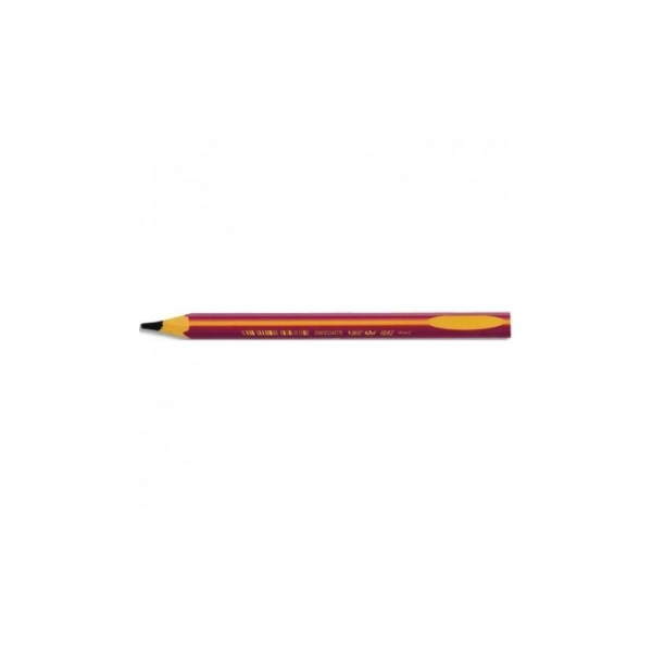 BIC Crayon graphite BEGINNERS. Mine HB 2mm. Corps rose pour gauchers/droitiers - Photo n°1