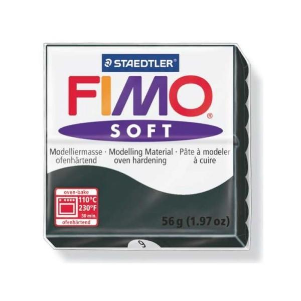 Pâte Fimo soft 56g noir n°9 - Photo n°1