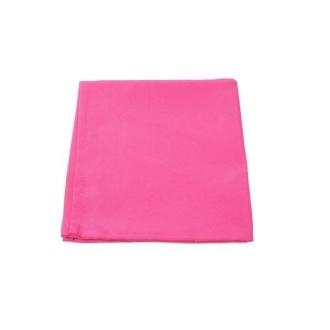 6 Serviettes de table polyester unies fuschia