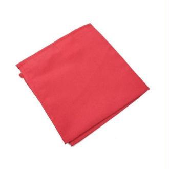 6 Serviettes de table polyester unies rouge
