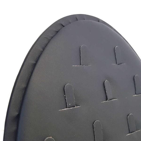 Porte bijoux vertical et ovale pour 21 bagues Noir - Photo n°2