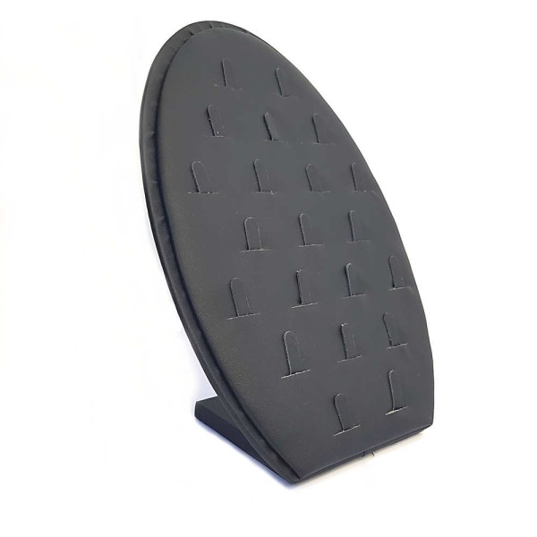 Porte bijoux vertical et ovale pour 21 bagues Noir - Photo n°1