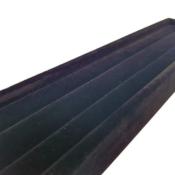Porte bague mini plateau en velours 29.5 x 6.5 cm Noir - Photo n°2
