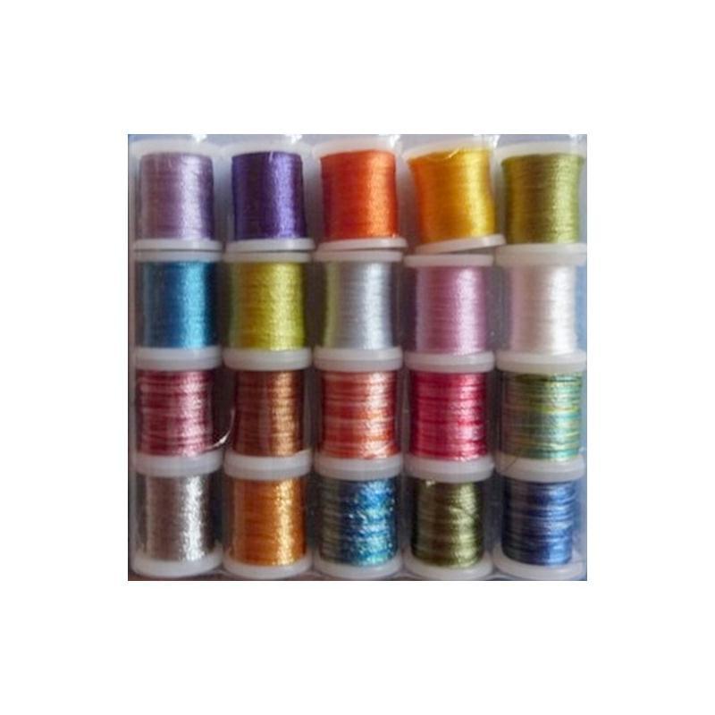 100/% polyester 12 couleurs Lot 12 bobines de fil à broder 250 metres